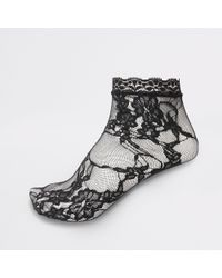 River Island - Lace Ankle Socks - Lyst