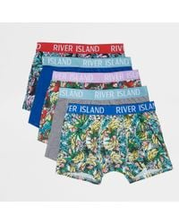 River Island - Yellow Banana Print Trunks Multipack - Lyst
