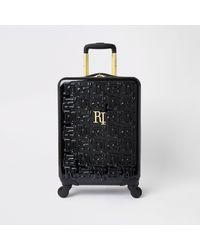 River Island Black Ri Monogram Small Suitcase