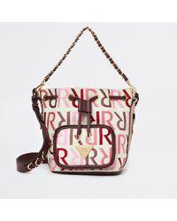 River Island Pink Ri Branded Duffle Bag