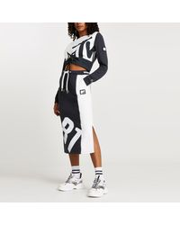 River Island Grey Mtv Ruched Long Sleeve Crop Top