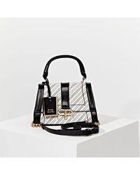 River Island 'rr' Chain Mini Tote Bag - White