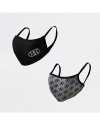 River Island Gray Rr Monogram Face Covering 2 Pack