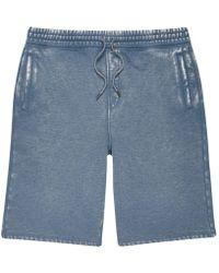 River Island Blue Burnout Jogger Shorts
