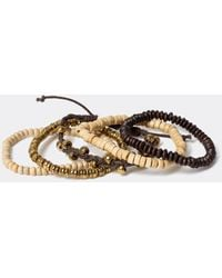 River Island Brown Multi-coloured Beaded Wristband 5 Pack