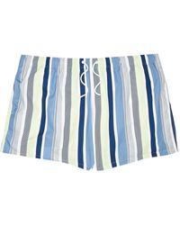 River Island Big And Tall White Stripe Swim Shorts