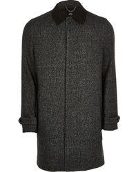 River Island Dark Gray Wool Blend Coat
