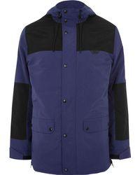 240759c52 Blue Block Hooded Jacket