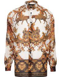 River Island - Jaded London Leopard Baroque Shirt - Lyst