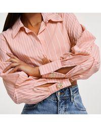 River Island Long Sleeve Elasticated Waist Shirt - Pink