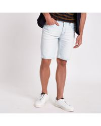 River Island - Levi's Light Blue 511 Slim Fit Denim Shorts - Lyst