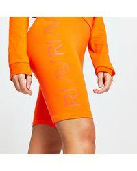 River Island Orange Ri Active Cycling Shorts