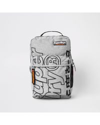 River Island - Superdry Grey Academic Backpack - Lyst