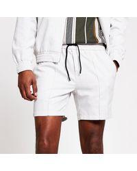 River Island Beige Printed Skinny Shorts - Natural