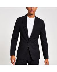 River Island - Navy Pinstripe Skinny Suit Jacket Navy Pinstripe Suit Waistcoat Navy Pinstripe Skinny Suit Trousers - Lyst