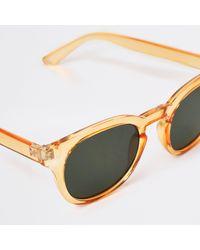 River Island Orange Round Frame Sunglasses