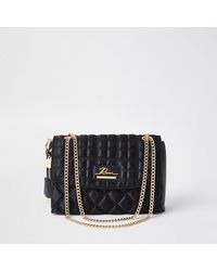 River Island Black Quilted Satchel