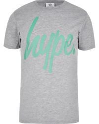 Hype Gray Logo Short Sleeve T-shirt