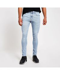 River Island Blue Danny Super Skinny Jeans