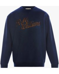 R.M.Williams R.m.w Script Crew Neck Jumper - Blue