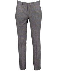 Guide London Tonal Checked Trousers - Charcoal / W30 L32 - Grey