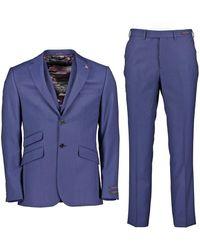 Ted Baker Bev Three-piece Suit - Dark Blue / 38 Regular