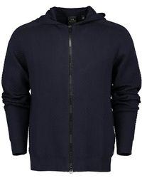 Armani Exchange Logo Zip Hoodie - Blue