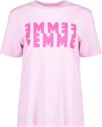 SELECTED Femme Print Pink T-shirt
