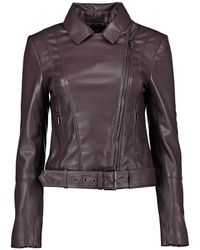 Ted Baker Pipiy Faux Leather Biker Jacket - Multicolour