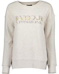 Barbour Lydden Overlayer Sweatshirt - Natural