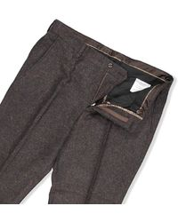 Guide London Textured Trousers - Brown / W30 L32