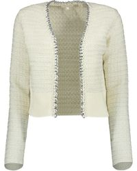 Ted Baker Eloda Boucle Style Cardigan With Chain Detail - White