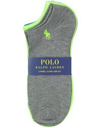 Polo Ralph Lauren Ultra Low Ankle Sock 6 Pack - Blueshell/white / One Size