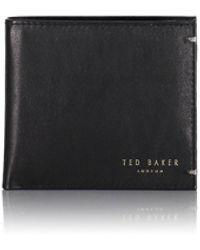 Ted Baker Harvys Core Bifold Coin Wallet - Black