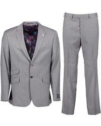 Ted Baker Caspto Sterling Flannel Two-piece Suit - Gray / 38 Regular