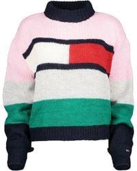 Tommy Hilfiger Bell Sleeve Colour-blocked Jumper - Pink