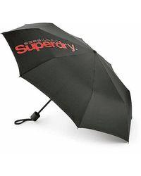 Fulton Superdry Minilite Umbrella - Black/orange / One Size