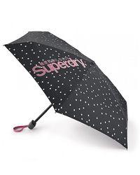 Fulton Superdry Random Dot Tiny-2 Umbrella - Black