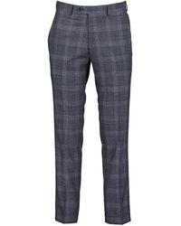 Remus Uomo Palucci Check Trousers - Charcoal / W32 L32 - Multicolour
