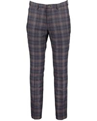 Guide London Check Trousers - Navy / W32 L32 - Blue