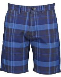GANT Regular Fit Madras Shorts - Blue