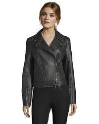 Robert Graham Monroe Solid Black Leather Jacket