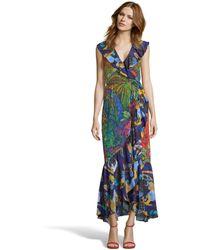 Robert Graham Sophia Botanical Print Dress - Blue