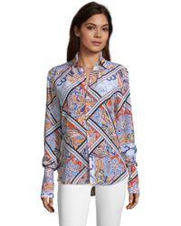 Robert Graham - Gabriela Paisley Mixed Print Silk Shirt - Lyst