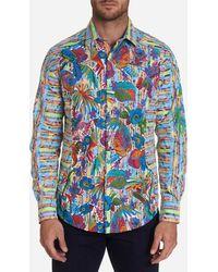Robert Graham Limited Edition Coalesce Sport Shirt - Blue