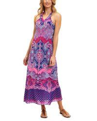 Robert Graham Krista Sleeveless Dress - Purple