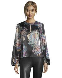 Robert Graham - Elizabeth Painterly Printed Silk Shirt - Lyst