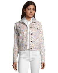 Robert Graham Evie Paisley Printed Suede Jacket - Multicolor