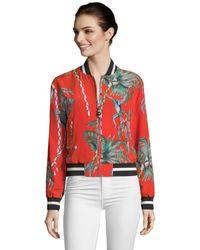 Robert Graham Meredith Monkey Botanical Silk Bomber Jacket