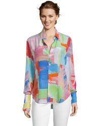 Robert Graham - Gabriela Paintbrush Silk Shirt - Lyst